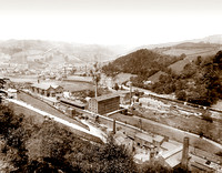 View of Hebden Bridge and Railway Station c1910