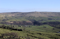Stoodley Pike from Higher Eastwood