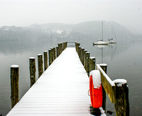 Storrs Hall Jetty in Snow