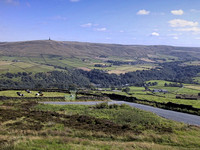 Stoodley Pike from Great Rock - July